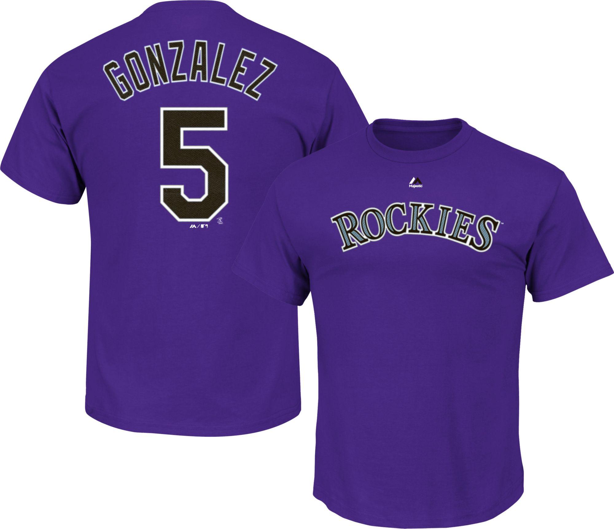 Colorado Rockies #5 Gonzalez Purple Kids Jersey