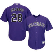 Youth Replica Colorado Rockies Nolan Arenado #28 Alternate Purple Jersey