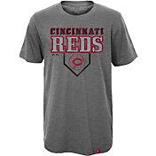 Majestic Youth Cincinnati Reds Heirloom Grey T-Shirt