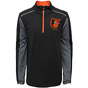 Majestic Youth Baltimore Orioles Club Series Black Quarter-Zip Fleece