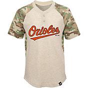 Majestic Youth Baltimore Orioles Raglan Camo Base Stealer T-Shirt