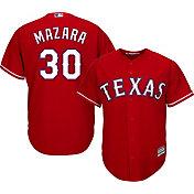 Majestic Youth Replica Texas Rangers Nomar Mazara #30 Cool Base Alternate Red Jersey
