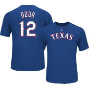 Majestic Youth Texas Rangers Roughed Odor #12 Royal Performance T-Shirt