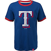 Majestic Youth Texas Rangers Ringer Royal T-Shirt