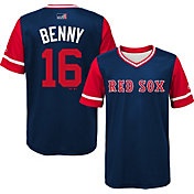 "Majestic Youth Boston Red Sox Andrew Benintendi ""Benny"" MLB Players Weekend Jersey Top"