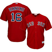 Majestic Youth Replica Boston Red Sox Andrew Benintendi #16 Cool Base Alternate Red Jersey