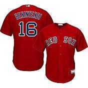 Majestic Youth Replica Boston Red Sox Andrew Benintendi #16 Cool Base Alternate Red Jersey