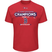 Majestic Youth Boston Red Sox 2017 AL East Champions Locker Room Red T-Shirt