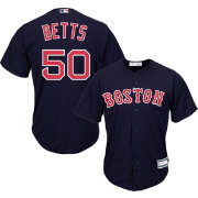 Youth Replica Boston Red Sox Mookie Betts #50 Alternate Navy Jersey