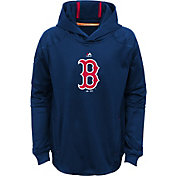 Majestic Youth Boston Red Sox Performance Navy Pullover Hoodie