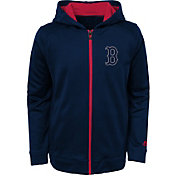 Majestic Youth Boston Red Sox Club Series Navy Full-Zip Hooded Fleece