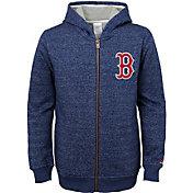 Majestic Youth Boston Red Sox Winning Streak Navy Full-Zip Hooded Fleece