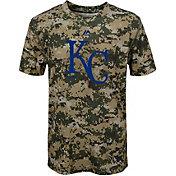Majestic Youth Kansas City Royals Cool Base Digi Camo Performance T-Shirt