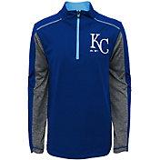 Majestic Youth Kansas City Royals Club Series Royal Quarter-Zip Fleece