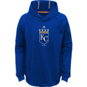 Majestic Youth Kansas City Royals Performance Royal Pullover Hoodie