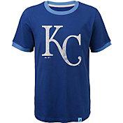 Majestic Youth Kansas City Royals Ringer Royal T-Shirt