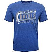 Majestic Youth Kansas City Royals Tri-Blend Curveball Royal T-Shirt