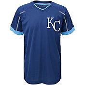 Majestic Youth Kansas City Royals Cool Base Emergence Royal Performance T-Shirt