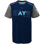 Majestic Youth Tampa Bay Rays Cool Base Club Series Navy Performance T-Shirt