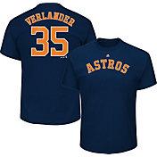 Majestic Youth Houston Astros Justin Verlander #35 Navy T-Shirt