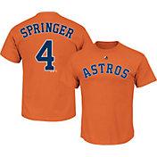 Majestic Youth Houston Astros George Springer #4 Orange T-Shirt