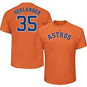 Majestic Youth Houston Astros Justin Verlander #35 Orange T-Shirt