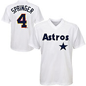 Majestic Youth Houston Astros George Springer #4 White Pullover Jersey