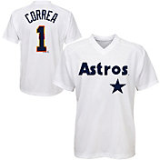 Majestic Youth Houston Astros Carlos Correa #1 White Pullover Jersey