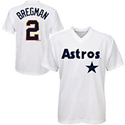 Majestic Youth Houston Astros Alex Bregman #2 White Pullover Jersey