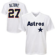Majestic Youth Houston Astros Jose Altuve #27 White Pullover Jersey