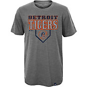 Majestic Youth Detroit Tigers Heirloom Grey T-Shirt