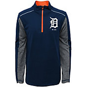 Majestic Youth Detroit Tigers Club Series Navy Quarter-Zip Fleece