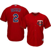 Majestic Youth Replica Minnesota Twins Brian Dozier #2 Cool Base Alternate Red Jersey