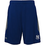 Majestic Youth New York Yankees Cool Base Rally Navy Performance Shorts