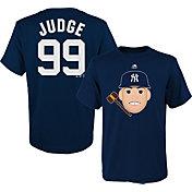 Majestic Youth New York Yankees Aaron Judge Emoji Navy T-Shirt