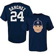Majestic Youth New York Yankees Gary Sanchez Emoji Navy T-Shirt