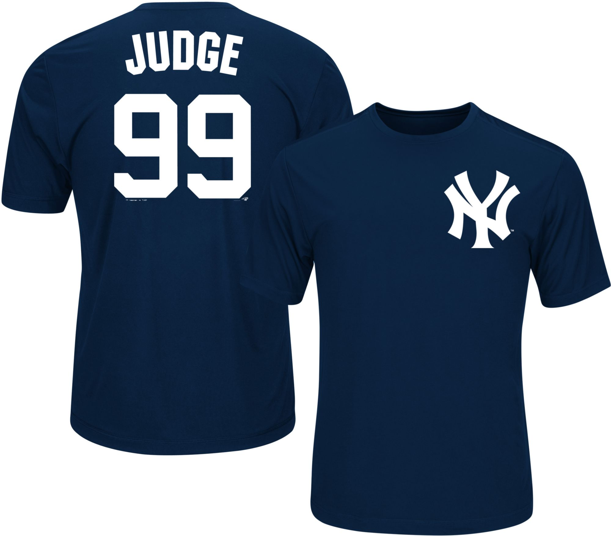 Product Image � Majestic Youth New York Yankees Aaron Judge #99 Navy  Performance T-Shirt