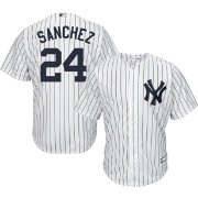 Youth Replica New York Yankees Gary Sanchez #24 Home White Jersey