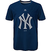 Majestic Youth New York Yankees GeoFuse Navy T-Shirt