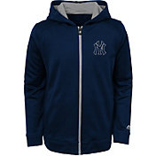 Majestic Youth New York Yankees Club Series Navy Full-Zip Hooded Fleece