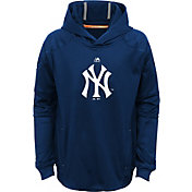 Majestic Youth New York Yankees Performance Navy Pullover Hoodie