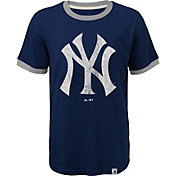Majestic Youth New York Yankees Ringer Navy T-Shirt