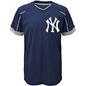 Majestic Youth New York Yankees Cool Base Emergence Navy Performance T-Shirt