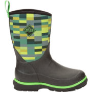 Muck Boot's Black/Rose/Owls Youth's Element Boot with Rubber Cup Outsole - Size 3 9CJD5aJ