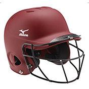 Mizuno L/XL MVP Solid Batting Helmet w/ Fastpitch Mask