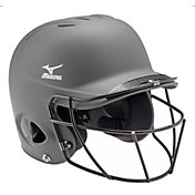 Mizuno L/XL MVP Solid Batting Helmet w/ Fastpitch Mask