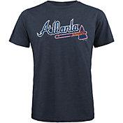 Majestic Threads Men's Atlanta Braves Navy T- Shirt