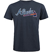 Majestic Threads Men's Atlanta Braves Navy T- Shirt
