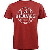 Majestic Threads Men's Atlanta Braves Red T- Shirt