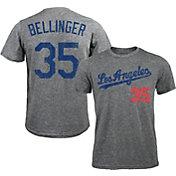 Majestic Threads Men's Los Angeles Dodgers Cody Bellinger #35 Grey Tri-Blend T-Shirt